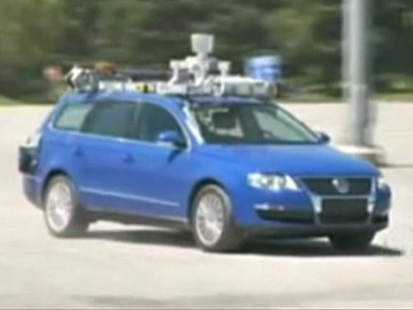 Picture of self-driving car.