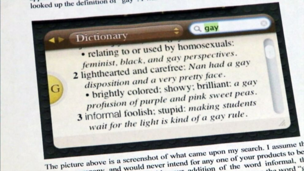gay dictionary meaning