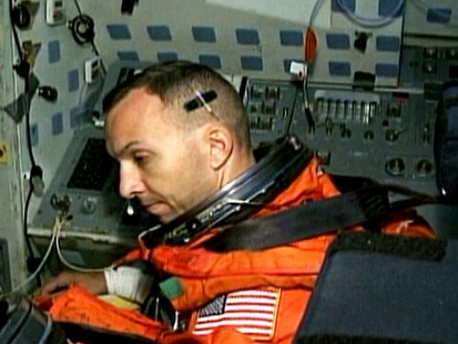 VIDEO: Astronaut Randy Bresnicks space shuttle mission will force him to miss the birth of his daughter.