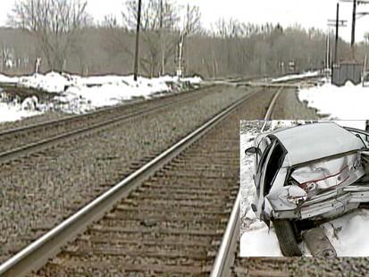 Video: GPS leads woman onto train tracks.