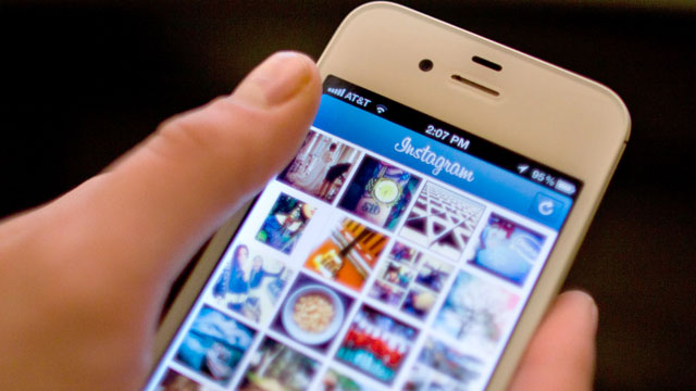 PHOTO: Instagram is demonstrated on an iPhone, April 9, 2012, in New York.