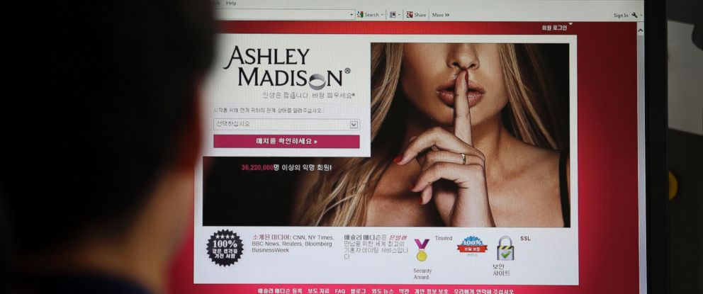 PHOTO: In this June 10, 2015 photo, Ashley Madisons Korean website is shown on a computer screen in Seoul, South Korea.