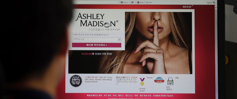 PHOTO: A June 10, 2015 file photo shows Ashley Madisons Korean web site on a computer screen in Seoul, South Korea.