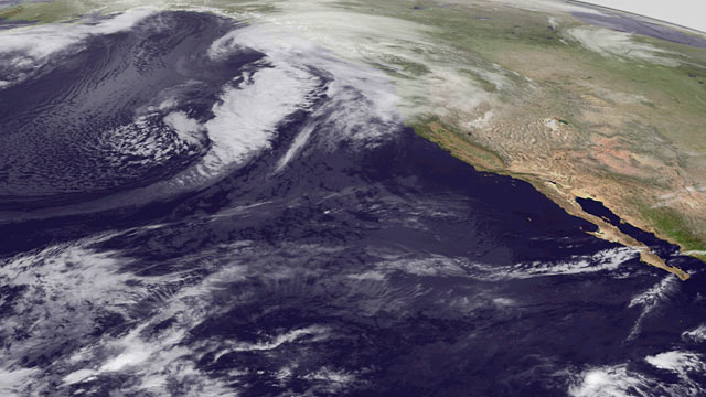 PHOTO: Storming bearing down on Alaska in this infrared imagery Nov. 9, 2011 at 5 a.m. EST.