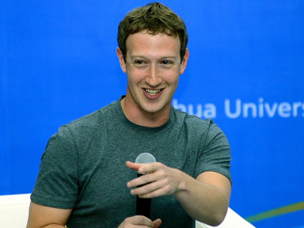 PHOTO: Mark Zuckerberg speaks during a dialogue with students on Oct. 22, 2014 as a newly-appointed member to the advisory board for Tsinghua University School of Economics and Management in Beijing, China.