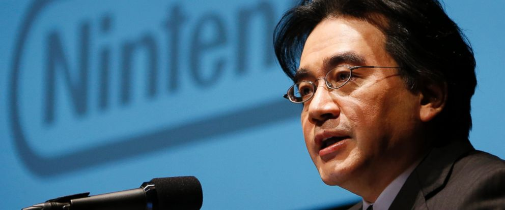 PHOTO: In this Jan. 31, 2013 file photo, Nintendo Co. President Satoru Iwata speaks during a news conference in Tokyo. Nintendo said President Iwata died Saturday, July 11, 2015, of a bile duct tumor in a Kyoto hospital, western Japan.