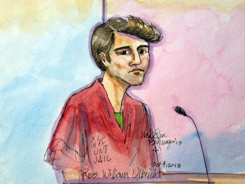 PHOTO: An artist rendering depicts Ross William Ulbricht during an appearance at federal court in San Francisco, in this Oct. 4, 2013 file photo.