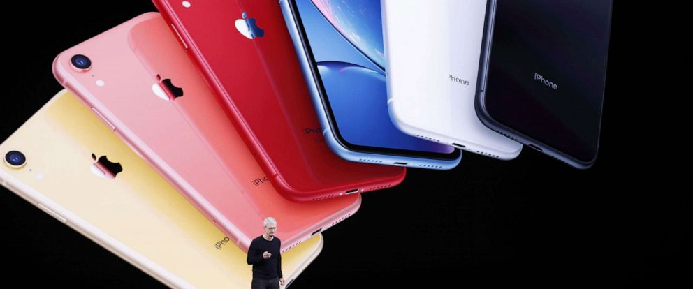 PHOTO: Apple CEO Tim Cook speaks about the new Apple iPhone 11 during the Apple Special Event in the Steve Jobs Theater, Cupertino, Calif., Sept. 10, 2019.