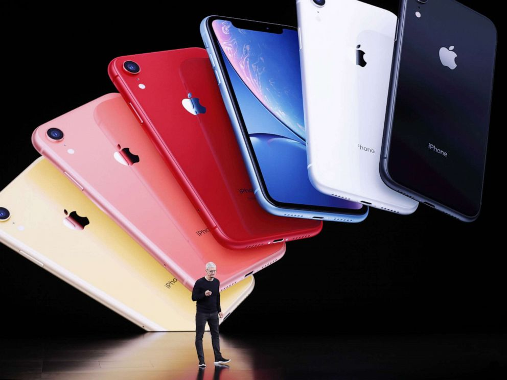 Cook speaks about the new Apple iPhone 11 during the Apple Special Event in the Steve Jobs Theater Cupertino Calif. Sept. 10 2019