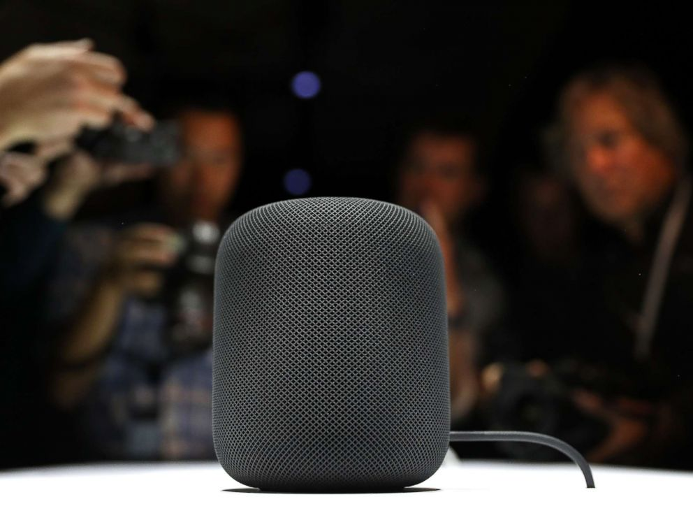PHOTO: A prototype of Apples new HomePod is displayed during the 2017 Apple Worldwide Developer Conference (WWDC) at the San Jose Convention Center, June 5, 2017 in San Jose, Calif.