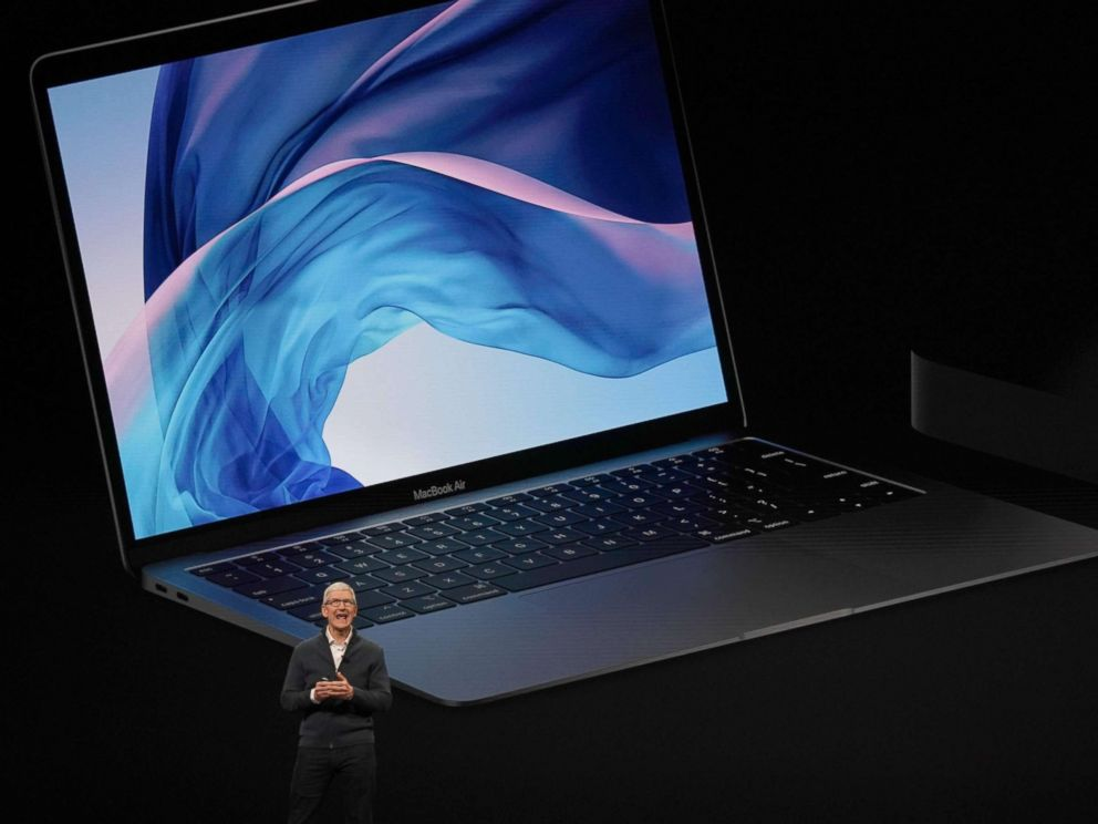 PHOTO: Apple CEO Tim Cook presents new products, including new Macbook laptops, during a special event at the Brooklyn Academy of Music, Oct. 30, 2018, in New York.