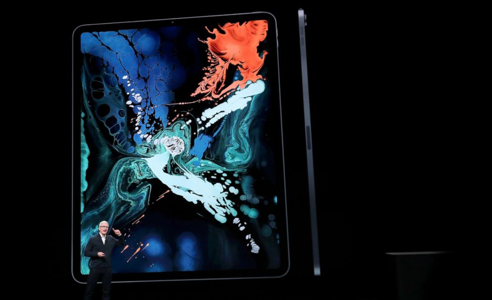 PHOTO: Apple CEO Tim Cook introduces the new iPad Pro during an Apple launch event in the Brooklyn borough of New York, Oct. 30, 2018.