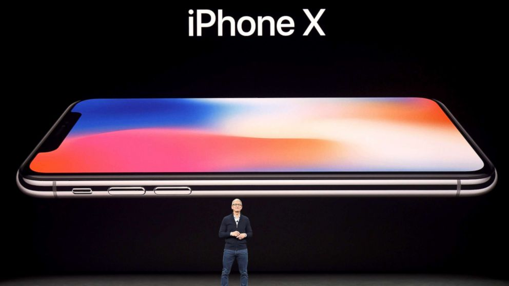 Apple CEO Tim Cook speaks about the new iPhone X during a media event at Apple's new headquarters in Cupertino, Calif., Sept. 12, 2017.
