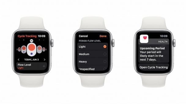 Apple Watch OS 6 will feature a menstrual period tracker