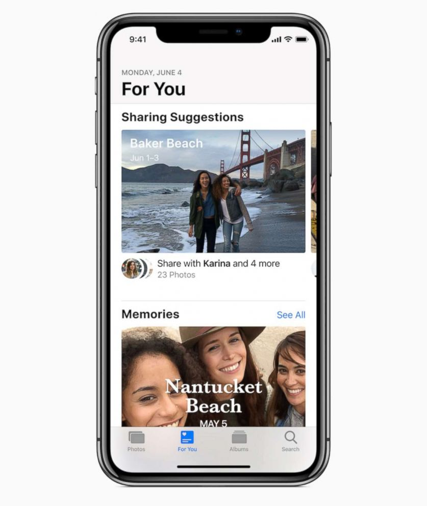 PHOTO: Apple announced new photo sharing features during their Worldwide Developer Conference in San Jose, Calif., June 4, 2018.