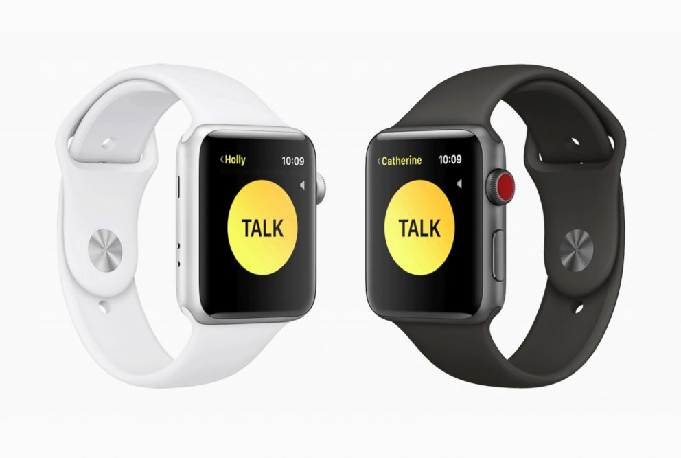 PHOTO: Apple announced a new Apple Watch chat function called Walkie-Talkie at their Worldwide Developer Conference in San Jose, Calif., June 4, 2018.