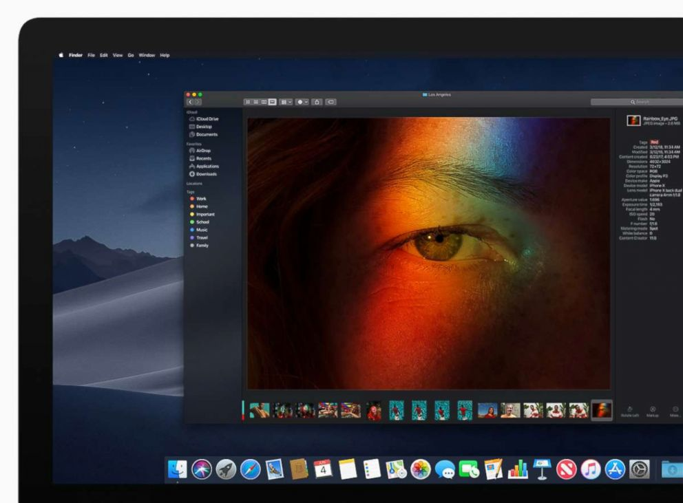 PHOTO: Apple announced Dark Mode for macOS Mojave users at their Worldwide Developer Conference in San Jose, Calif., June 4, 2018.