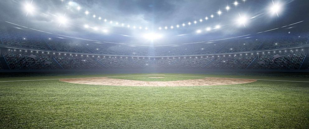 PHOTO: A baseball stadium 3d rendering is seen here in this stock image.