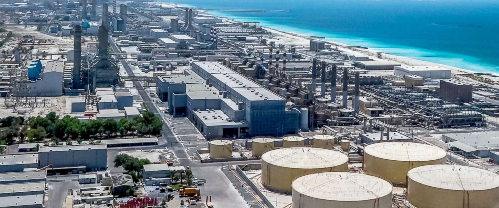 PHOTO: A desalination plant in the Arabian Gulf.