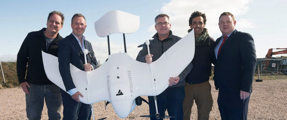 PHOTO: A team of international healthcare workers completed the worlds first drone insulin delivery, dropping off a parcel of life-saving medicine to a remote island in Ireland.