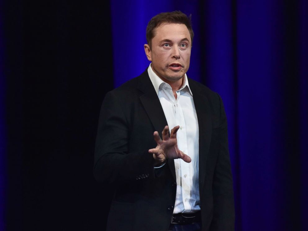 PHOTO: Elon Musk speaks at the 68th International Astronautical Congress 2017 in Adelaide, Australia, on Sept. 29, 2017.