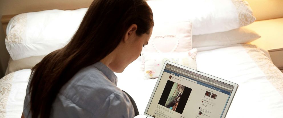 PHOTO: A teenage girl uses Facebook in this undated photo.