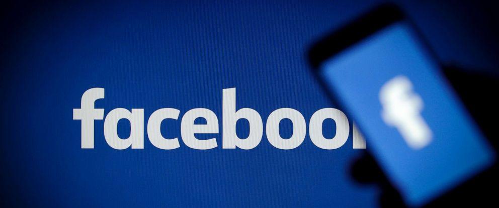 PHOTO:A Facebook logo is seen on a smartphone, Nov. 15, 2017.