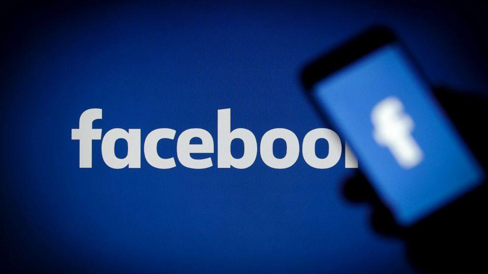 A Facebook logo is seen on a smartphone, Nov. 15, 2017.