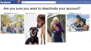 What does it mean to deactivate your facebook account