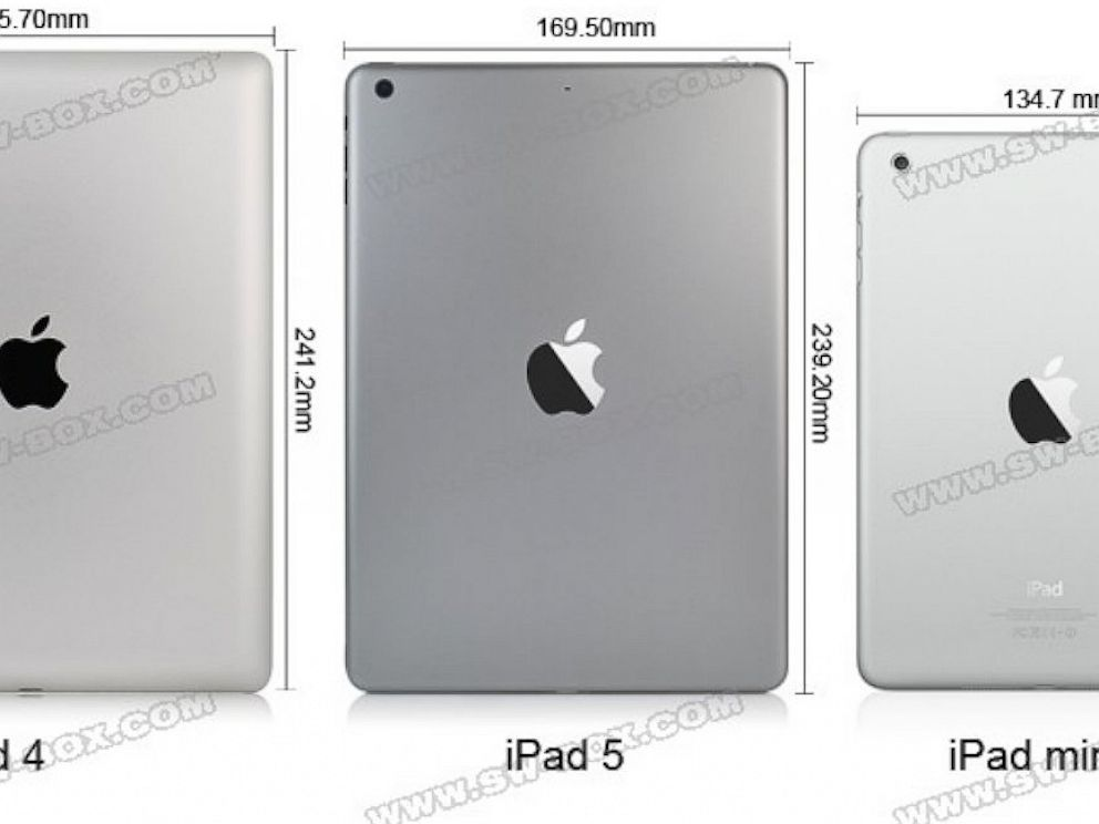 PHOTO: Purported photos of the iPad 5 have been posted by Chinese supplier site sw-box.com.