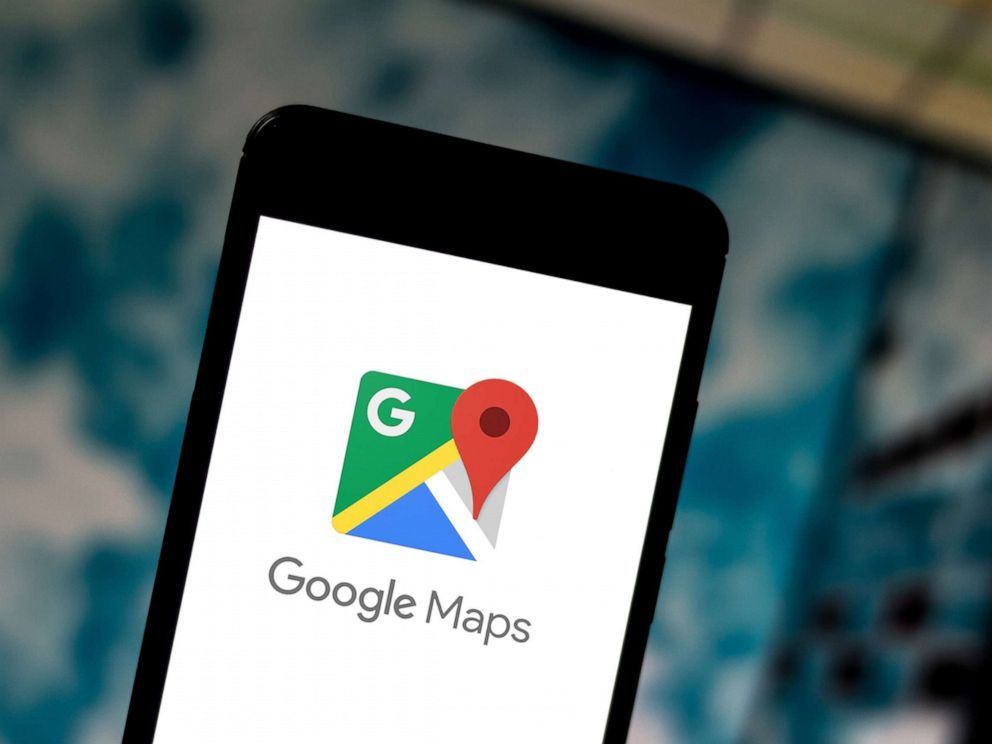 PHOTO: A photo illustration of a Google Maps logo.