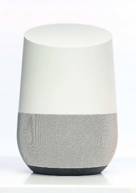 PHOTO: Google Home assistant device is showed at Google pavilion in Barcelona, Spain, March 1, 2018.