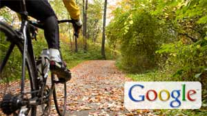 Photo: Google takes its map cam for a spin on biking, hiking trails: Google Employee on Tricycle Snaps Photo of Off-Road Trails