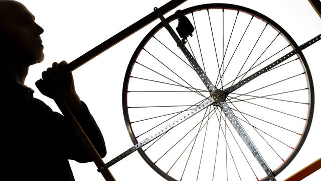 PHOTO: A smaller device that you wear or attach to your bicycle during a ride will collect the energy you create.