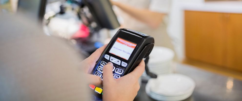 PHOTO: A stock image of a credit card reader.