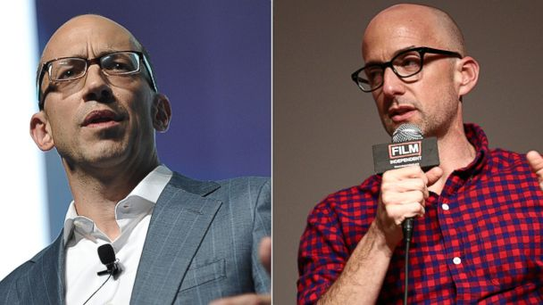 PHOTO: Dick Costolo, left, is being portrayed by Jim Rash, right, in the upcoming Twitter film.