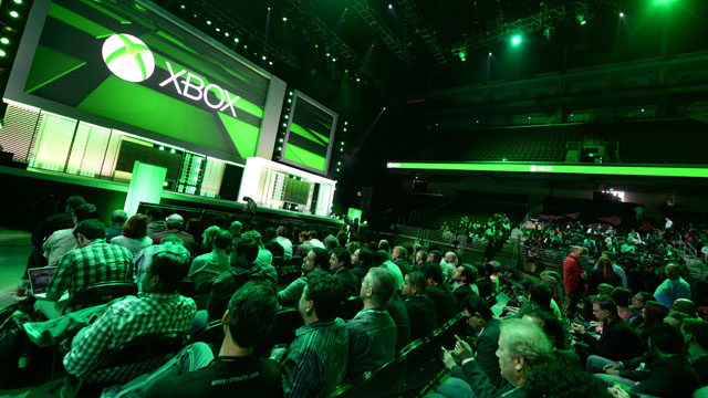 PHOTO: Attendees await the start of the Microsoft Xbox E3 2013 Media Briefing in Los Angeles on June 10, 2013.