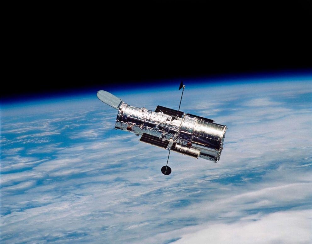 PHOTO: The Hubble Space Telescope in orbit around Earth.