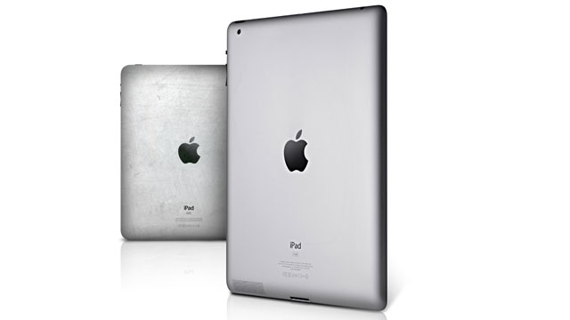 PHOTO: An iPad 1 and an iPad 2 are shown.