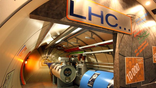 PHOTO: Large Hadron Collider model