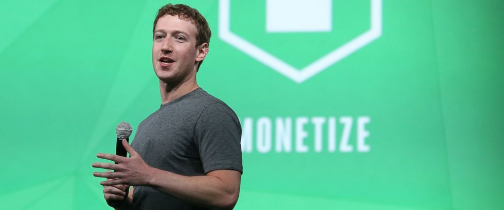 PHOTO: Facebook CEO Mark Zuckerberg delivers the opening keynote address at the Facebook f8 developers conference on April 30, 2014 in San Francisco, Calif.