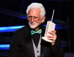 PHOTO: Inventor Martin Cooper accepts his award onstage during the 15th Annual Webby Awards, June 13, 2011, in New York City.