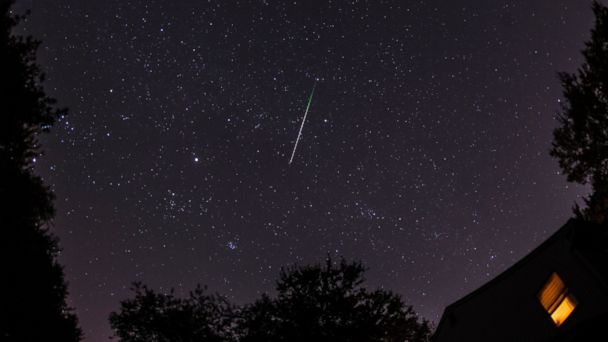 PHOTO: A meteor shower is seen in this undated file photo.