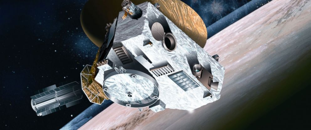 PHOTO: An artists concept shows the New Horizonss Spacecraft approaching Pluto.