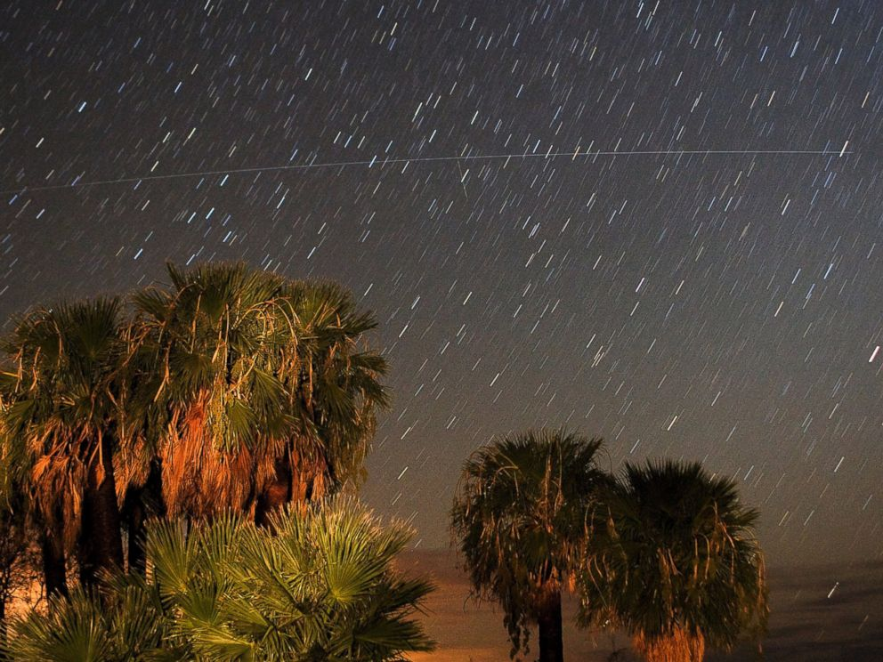 PHOTO: Perseid meteors streak across the sky early Aug. 12, 2008 near Rogers Spring in the Lake Mead National Recreation Area, Nevada.