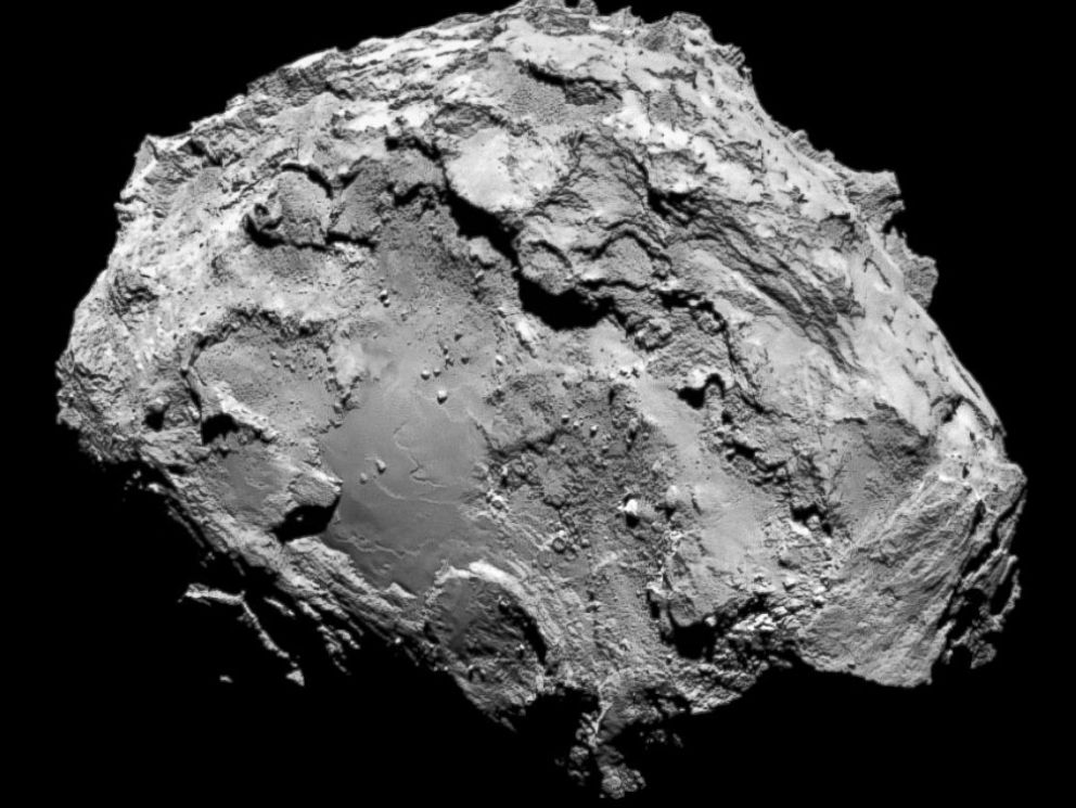 PHOTO: The comet Comet 67P/Churyumov-Gerasimenko is seen in a photo taken by the Rosetta spacecraft with the OSIRIS narrow-angle camera August 3, 2014.