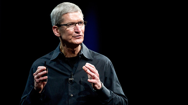 PHOTO: Tim Cook, chief executive officer of Apple Inc., speaks at the Apple Worldwide Developers Conference in San Francisco, Calif., June 11, 2012.