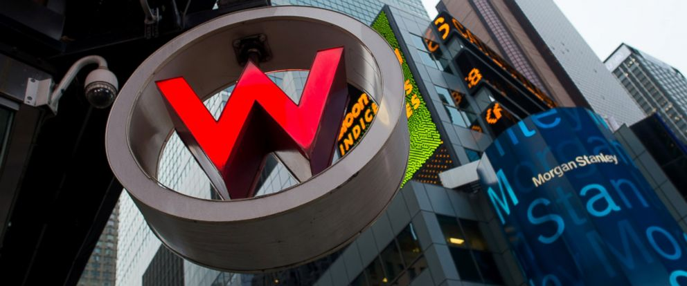PHOTO: Signage for the W New York Times Square, a Starwood property, is displayed in New York, Oct. 23, 2013.