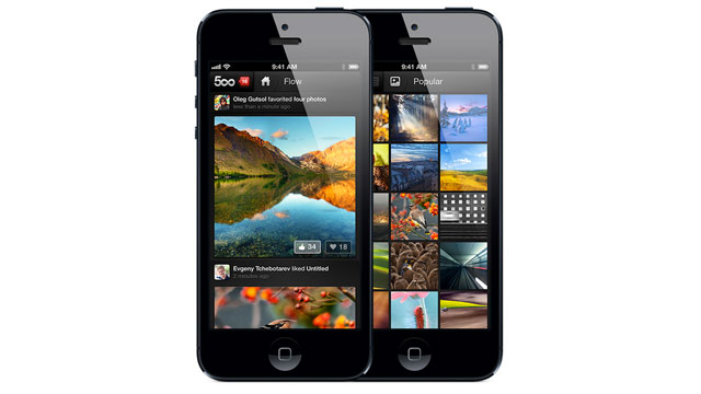 PHOTO: 500pxs iPad and iPhone app allows you to share and look at photos.