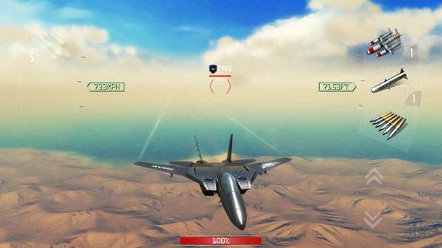 PHOTO: Air Supremacy is a jet fighter game for the new iPad.